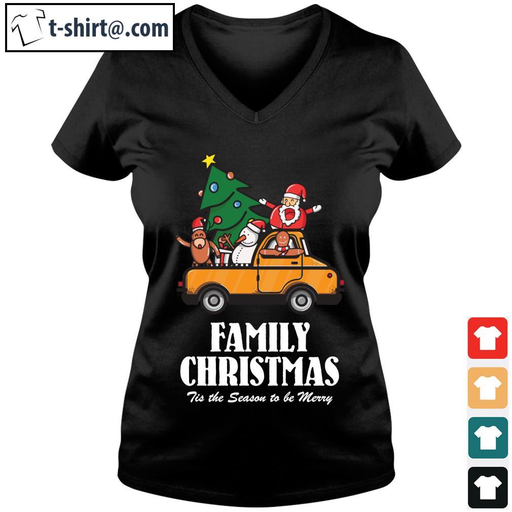 Family Christmas Tis the season to be Merry s v-neck-t-shirt