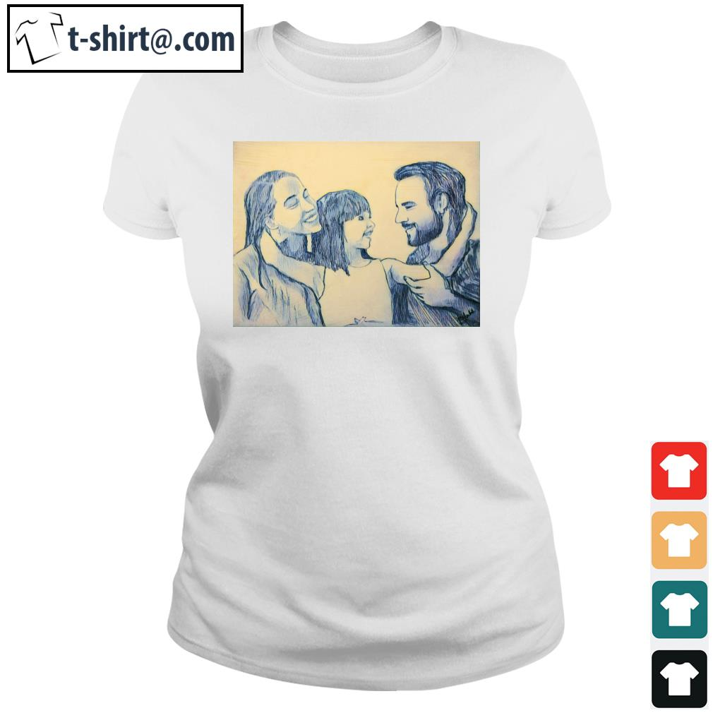 Family Daddy Mommy and Daughter s ladies-tee