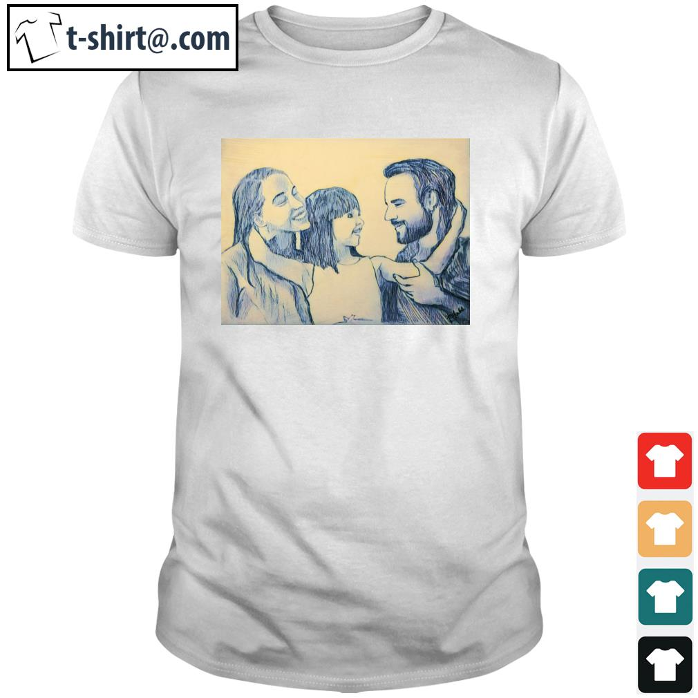 Family Daddy Mommy and Daughter shirt