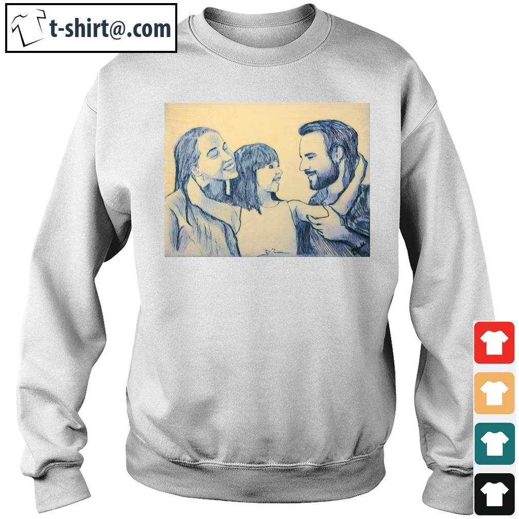 Family Daddy Mommy and Daughter s sweater