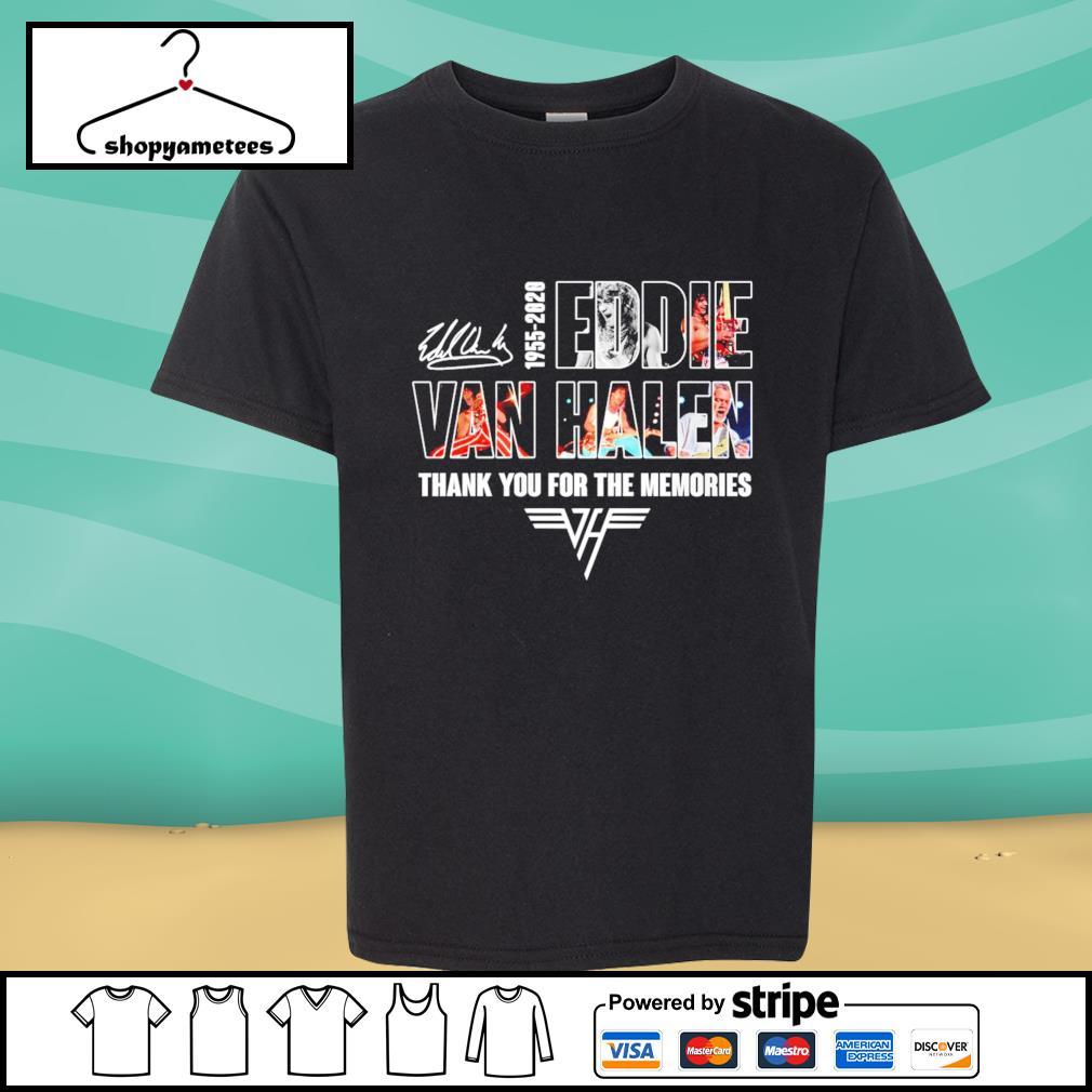 1955-2020 Eddie Van Halen thank you for the memories shirt
