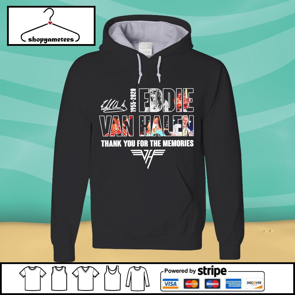 1955-2020 Eddie Van Halen thank you for the memories signature s hoodie