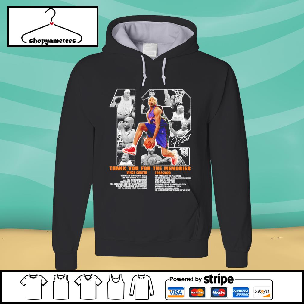 12 Vince Carter 1998-2020 thank you for the memories s hoodie